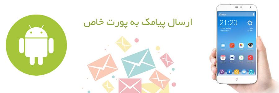 امکان ارسال پیامک به پورت خاص در سامانه و وب سرویس